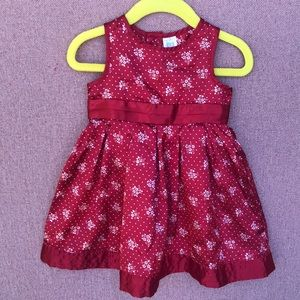 Shiny red Carters 12 mo fancy dress satin feel